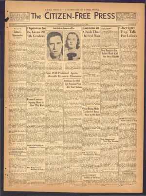 The Citizen-Free Press Gazetesi 24 Ocak 1935 kapağı
