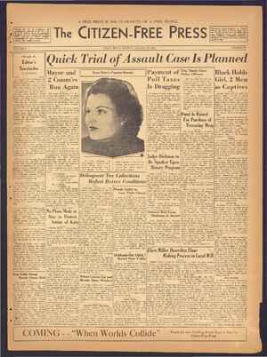 The Citizen-Free Press Gazetesi 27 Ocak 1935 kapağı