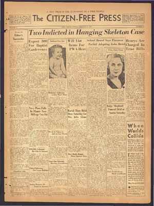 The Citizen-Free Press Gazetesi 3 Şubat 1935 kapağı
