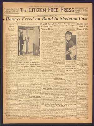 The Citizen-Free Press Gazetesi 7 Şubat 1935 kapağı