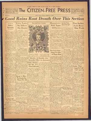 The Citizen-Free Press Gazetesi 10 Şubat 1935 kapağı
