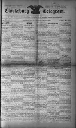 The Clarksburg Telegram Gazetesi 20 Ocak 1893 kapağı