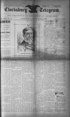 The Clarksburg Telegram Gazetesi 3 Şubat 1893 kapağı