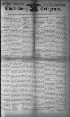 The Clarksburg Telegram Gazetesi 10 Şubat 1893 kapağı