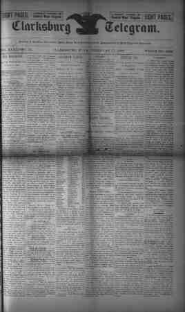 The Clarksburg Telegram Gazetesi 17 Şubat 1893 kapağı
