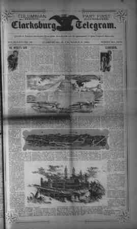The Clarksburg Telegram Gazetesi 3 Mart 1893 kapağı
