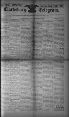 The Clarksburg Telegram Gazetesi 24 Mart 1893 kapağı