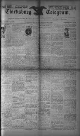 The Clarksburg Telegram Gazetesi 31 Mart 1893 kapağı