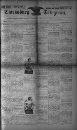 The Clarksburg Telegram Gazetesi 7 Nisan 1893 kapağı