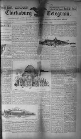 The Clarksburg Telegram Gazetesi 5 Mayıs 1893 kapağı