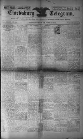 The Clarksburg Telegram Gazetesi 2 Haziran 1893 kapağı
