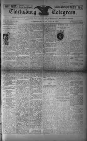 The Clarksburg Telegram Gazetesi 9 Haziran 1893 kapağı