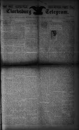 The Clarksburg Telegram Gazetesi 16 Haziran 1893 kapağı
