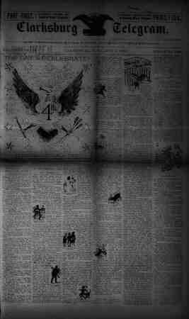 The Clarksburg Telegram Gazetesi 7 Temmuz 1893 kapağı