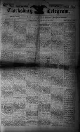 The Clarksburg Telegram Gazetesi 14 Temmuz 1893 kapağı