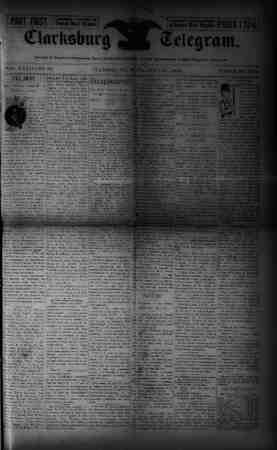 The Clarksburg Telegram Gazetesi 21 Temmuz 1893 kapağı