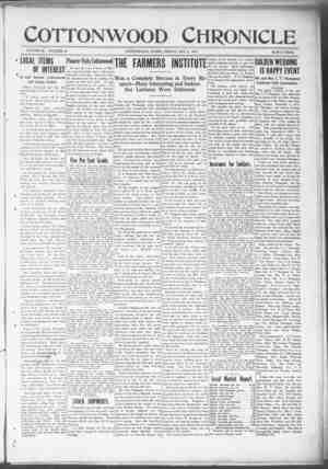 Cottonwood Chronicle Gazetesi 5 Ekim 1917 kapağı