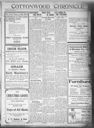 Cottonwood Chronicle Gazetesi 7 Aralık 1917 kapağı