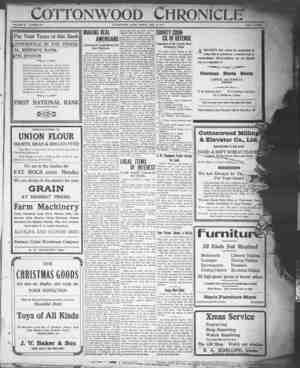 Cottonwood Chronicle Gazetesi 14 Aralık 1917 kapağı