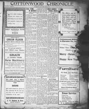 Cottonwood Chronicle Gazetesi 21 Aralık 1917 kapağı