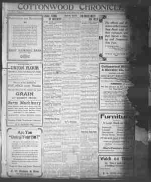 Cottonwood Chronicle Gazetesi 28 Aralık 1917 kapağı
