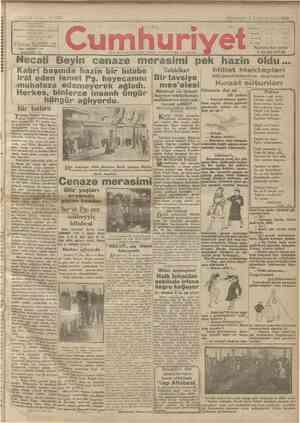 Cumhuriyet Gazetesi 3 Ocak 1929 kapağı