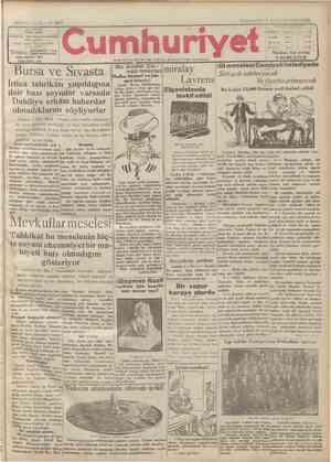 Cumhuriyet Gazetesi 7 Ocak 1929 kapağı