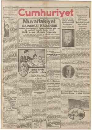 Cumhuriyet Gazetesi 8 Ocak 1929 kapağı