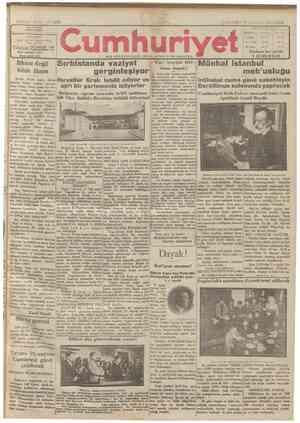 Cumhuriyet Gazetesi 9 Ocak 1929 kapağı