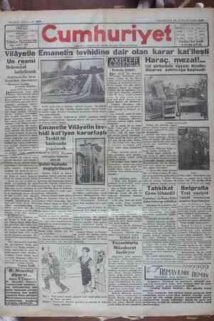 Cumhuriyet Gazetesi 14 Ocak 1929 kapağı
