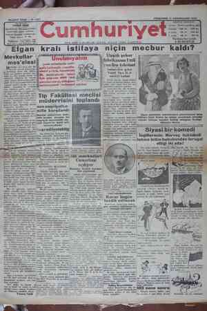 Cumhuriyet Gazetesi 17 Ocak 1929 kapağı