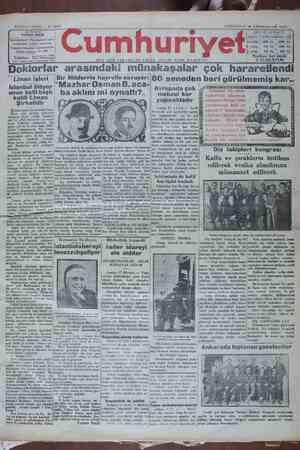 Cumhuriyet Gazetesi 19 Ocak 1929 kapağı