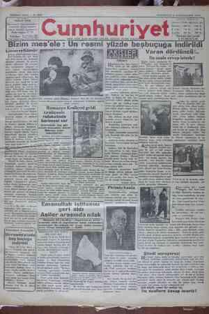 Cumhuriyet Gazetesi 21 Ocak 1929 kapağı