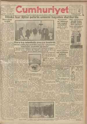 Cumhuriyet Gazetesi 3 Şubat 1929 kapağı