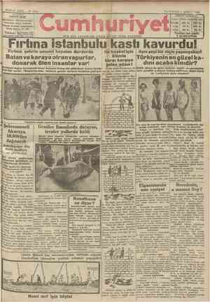 Cumhuriyet Gazetesi 4 Şubat 1929 kapağı