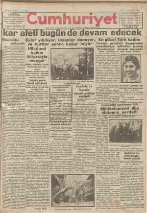 Cumhuriyet Gazetesi 5 Şubat 1929 kapağı