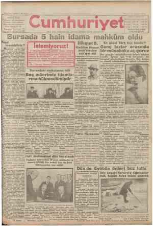 Cumhuriyet Gazetesi 10 Şubat 1929 kapağı