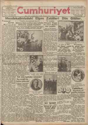 Cumhuriyet Gazetesi 16 Şubat 1929 kapağı