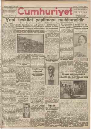 Cumhuriyet Gazetesi 17 Şubat 1929 kapağı
