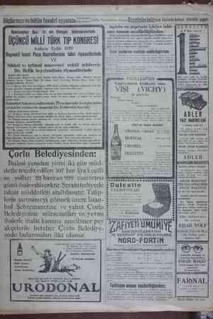 tuvalet eşîaîızıl';. : Reisicumhur Gazi Hz. nin Himayei fahimanelerinde ÜÇÜNCÜ MİLLİ TÜRK TIP KONGRESİ Ankara Eylül 1929 VE