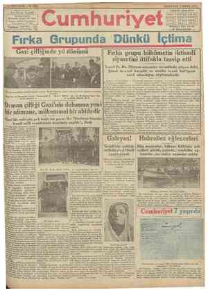 ALTIIVC! SENE N Başmuharrirl 2156 ÇAPŞAMBA 7 MAYIS 193 Y U N U 8 P>JAP»t FDTREHANESÎ : Dthmııroımııniye karşıs.ıınla dairei