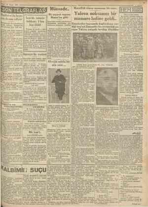 13 Mayıs 1930 SON TELGftAFLÂF? Hindistsn'da heyecan devam ediyor Müslümanlar da mücadeleye iştirak ediyor. Rangov'da dok...