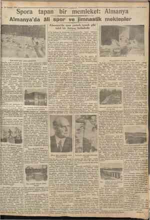 20 TemmuE 1930 Spora tapan bir memleket: Almanya «iımııııtıııiBIHIIHIHIIHIİIIIIIHIIÜIIItlffllflmHIIHiBimımııııııım™...