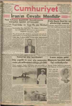 YEDINCI SENE N 2 2 4 9 Başmuharrlrl YUNUS > İDAREHANESİ: DflvMnamumiye karşısında dairei mahsasa Telgraf: İstanbul Cumhuriyet