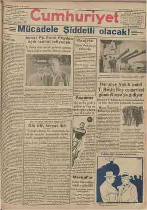 YEDINCI SENE N* 2 2 8 7 YUNUS NAÜİ İDAREHANESt: Ofiyıunnrauıuiye karşısında dairei mahsa» Telgraf: tstanbnl Cumhuriyet Posta