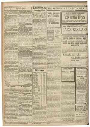 Cttmhariyet 27 Teşrinİevrel 1930 Yalancı şahit V.UKUAT Vapurda intihar   PAUL WHiTEMAN C A Z B A N T K I R Dü büük i Dünyanın
