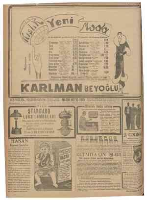 25 Teşrâıievvel 1930 ve en müntabrprekabetıizmallaıımızdan bir keçının fiatlarr Flamengo Tuid Tuid Krep saten Krep jorjet...