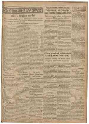 2 Tefrinİsani 1930 Camhurlyet =°^^ SÖtf TELGRAFLÂR Bütçe Mecüse verildi Lâyibamn esbabı mucibesini neşrediyoruz Ankara 1...