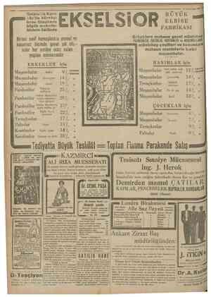 8 Teşrin'saııi 1930 Galaia'da KaraKöy'de börekçi fırını itîisalinde büyük mahallebicinin üstünde BUYÜK ELBÎSE FABRİKASI...