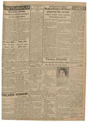 1 ' Kânupuevvel 1930 Cumhttriyet SON TELGRAFLAR Borçlar ihtilâfı Hâmillerle münferit müzakere için bir teklif yoktur Dünkü